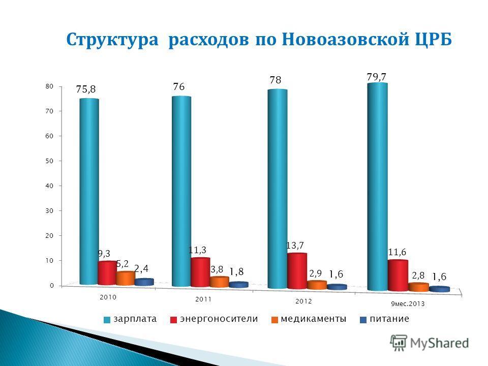 Структура расходов по Новоазовской ЦРБ