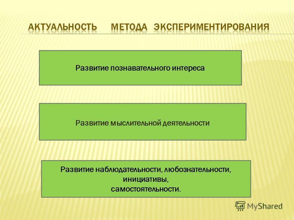 Развитие мыслительной деятельности Развитие наблюдательности, любознательности, инициативы, самостоятельности. Развитие познавательного интереса