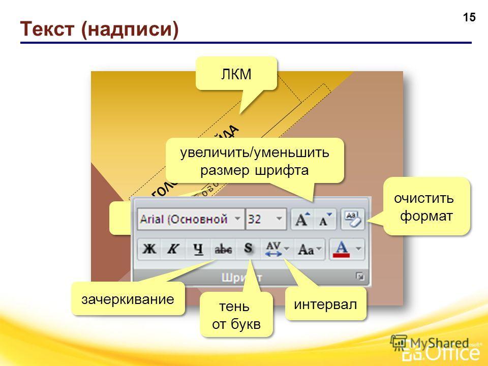 14 Пример оформления слайда До применения темы После применения темы