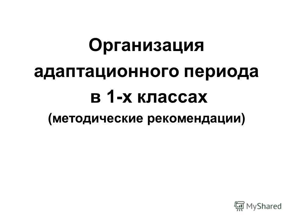 Организация адаптационного периода в 1-х классах (методические рекомендации)