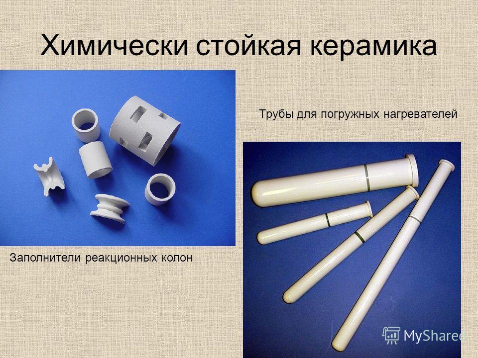 Химически стойкая керамика Заполнители реакционных колон Трубы для погружных нагревателей