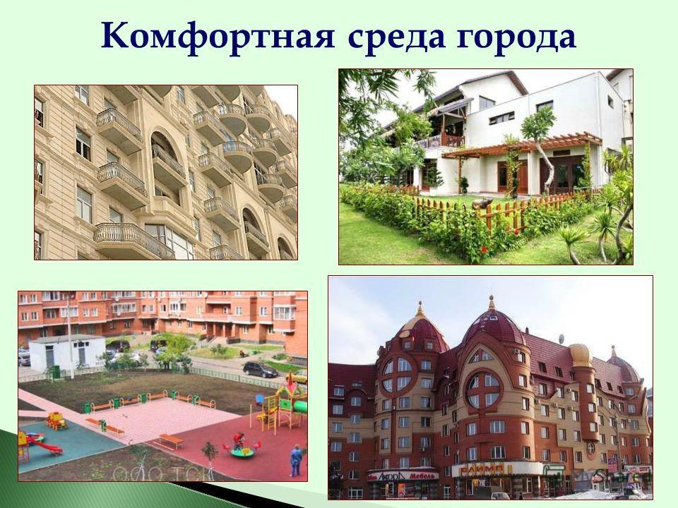 Комфортная среда города