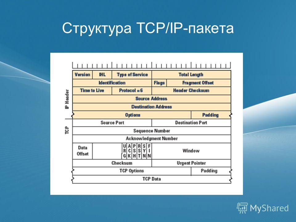 Структура TCP/IP-пакета
