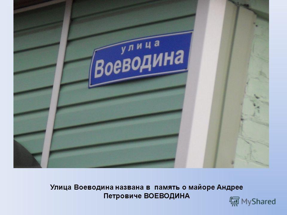 Улица Воеводина названа в память о майоре Андрее Петровиче ВОЕВОДИНА