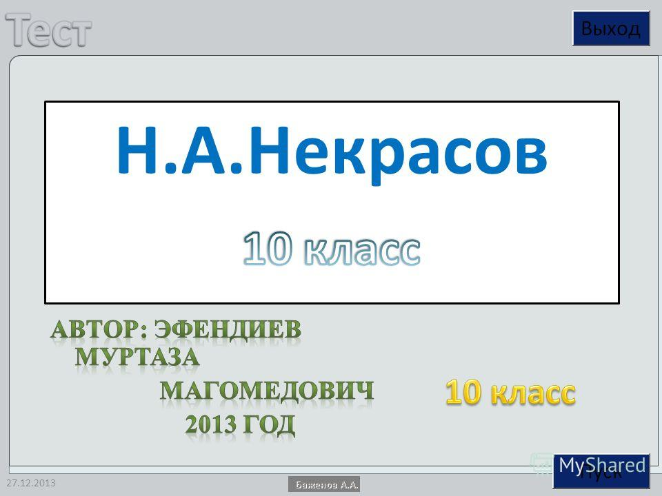 27.12.2013 Н.А.Некрасов