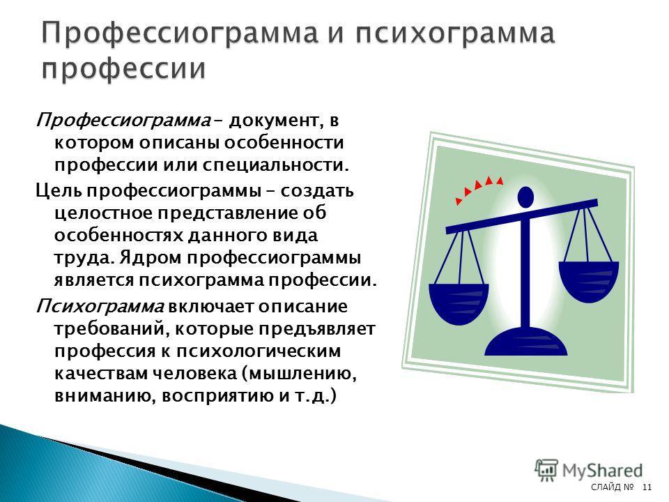 Классифицировать профессии можно по разным признакам. Наиболее удачную классификацию предложил академик Е.А.Климов. Он выделил следующие 4 группы: По предмету труда – типы (П – «человек-природа», Т – «человек-техника», Ч – «человек-человек», Х – «чел