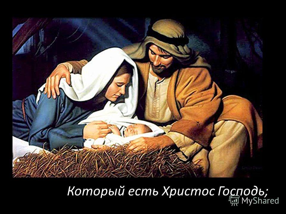 ибо ныне родился вам в городе Давидовом Спаситель,