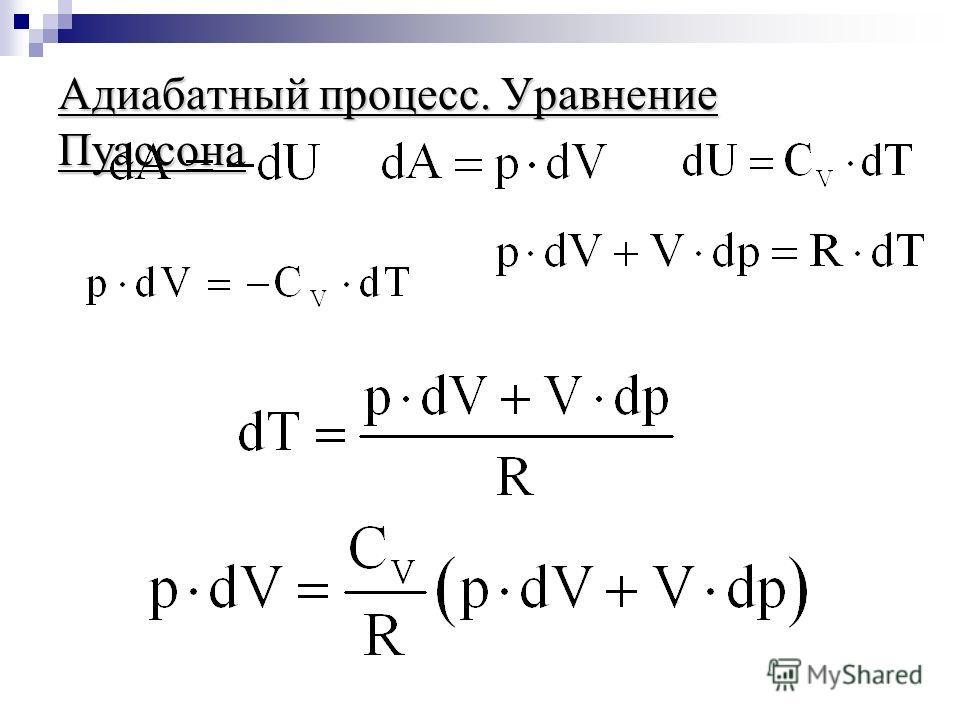 Адиабатный процесс. Уравнение Пуассона