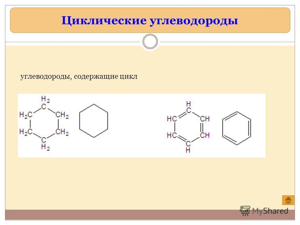 Циклические углеводороды углеводороды, содержащие цикл