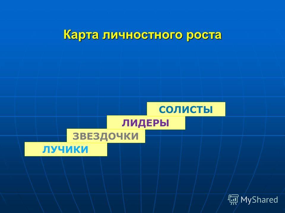 Карта личностного роста ЛУЧИКИ ЗВЕЗДОЧКИ ЛИДЕРЫ СОЛИСТЫ