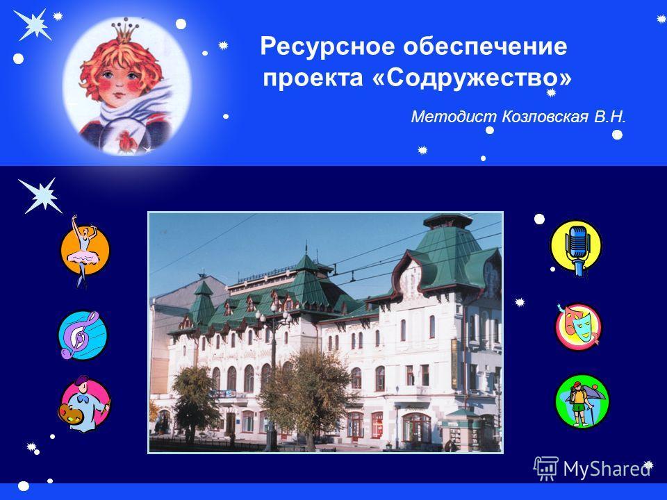 Ресурсное обеспечение проекта «Содружество» Методист Козловская В.Н.