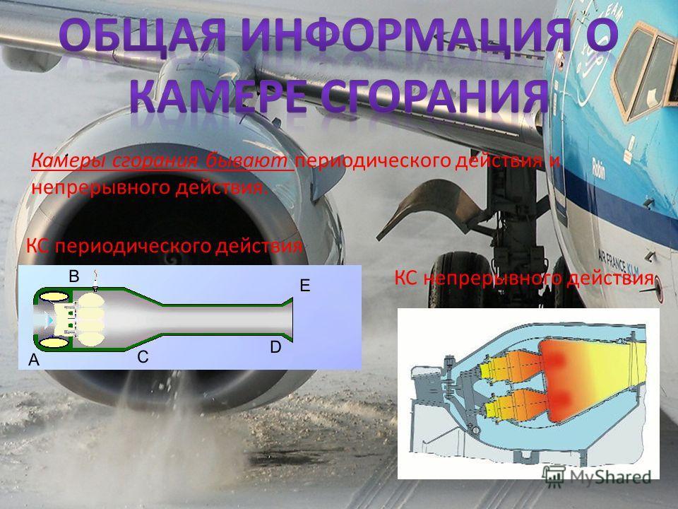 Камеры сгорания бывают периодического действия и непрерывного действия. КС периодического действия КС непрерывного действия