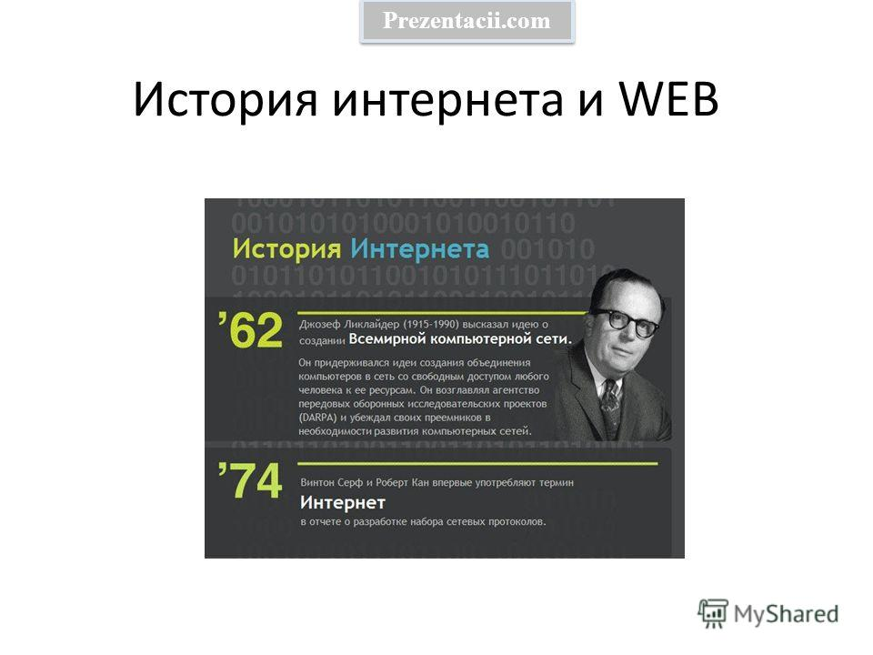 История интернета и WEB Prezentacii.com