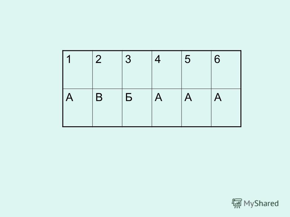 123456 АВБААА