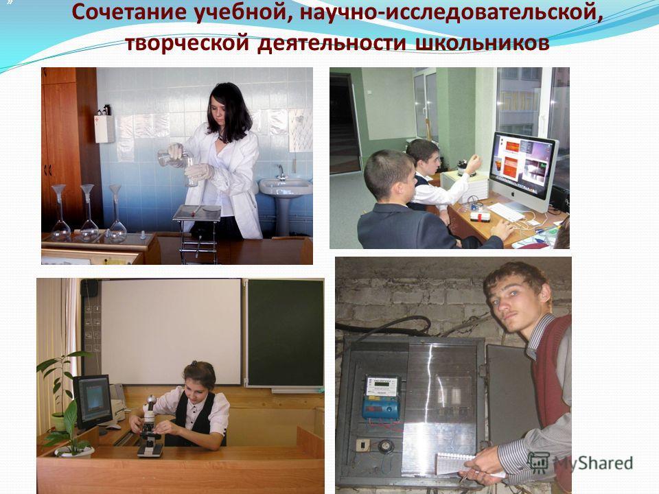 » Сочетание учебной, научно-исследовательской, творческой деятельности школьников