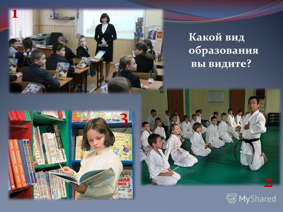 Какой вид образования вы видите? 1 2 3