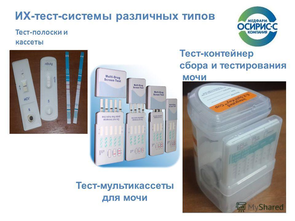 ИХ-тест-системы различных типов Тест-мультикассеты для мочи Тест-контейнер сбора и тестирования мочи Тест-полоски и кассеты