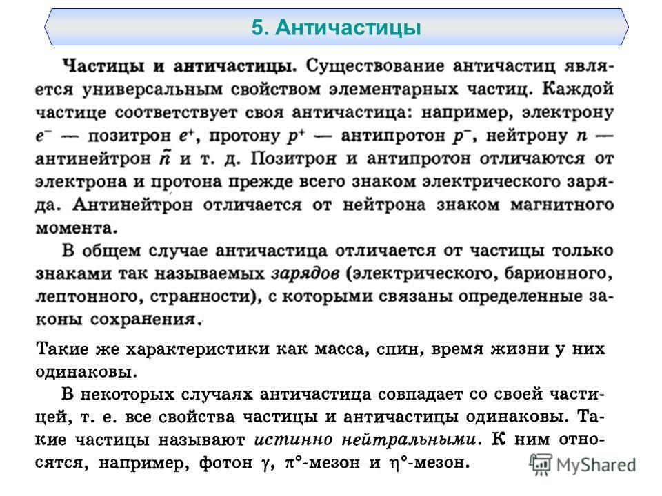 5. Античастицы