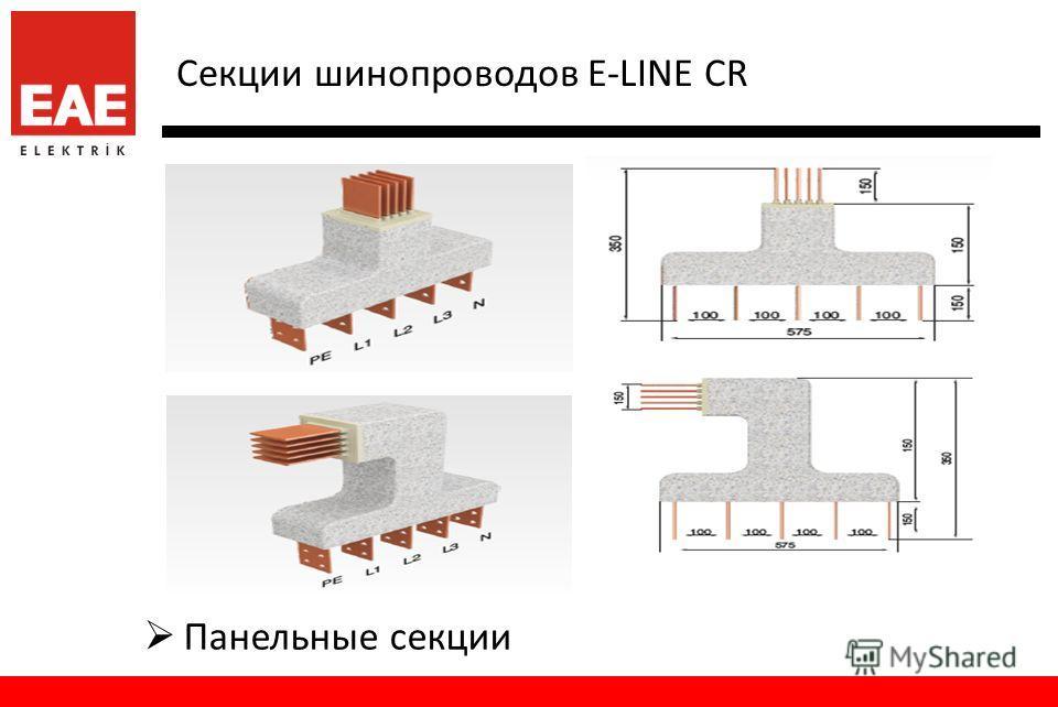 Секции шинопроводов E-LINE CR Панельные секции