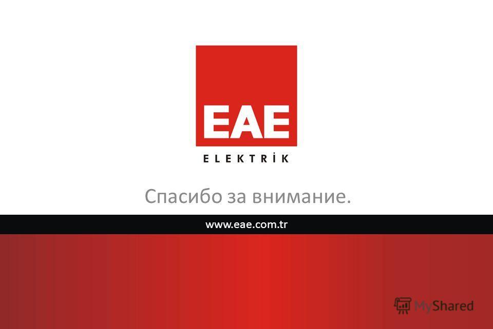 Спасибо за внимание. www.eae.com.tr