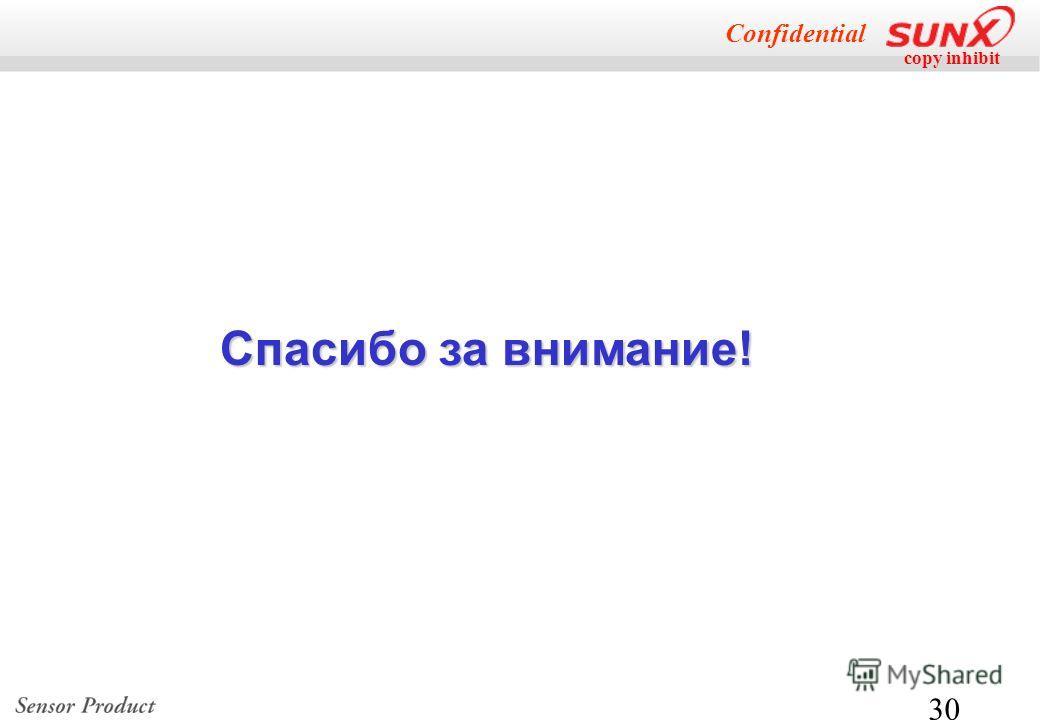 copy inhibit Confidential 30 Спасибо за внимание!