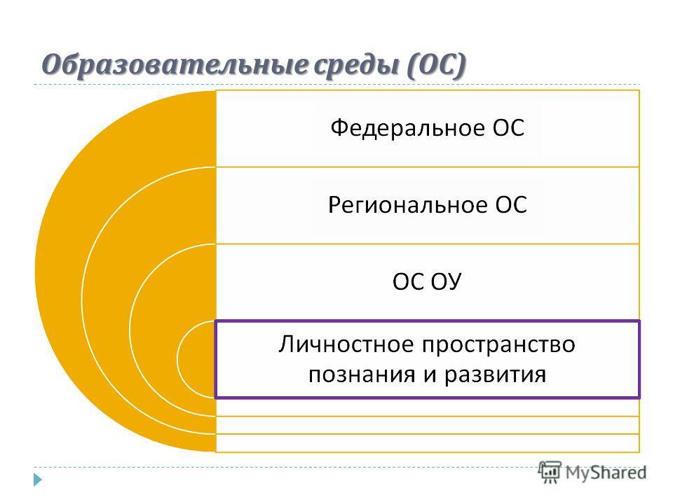 Образовательные среды ( ОС )