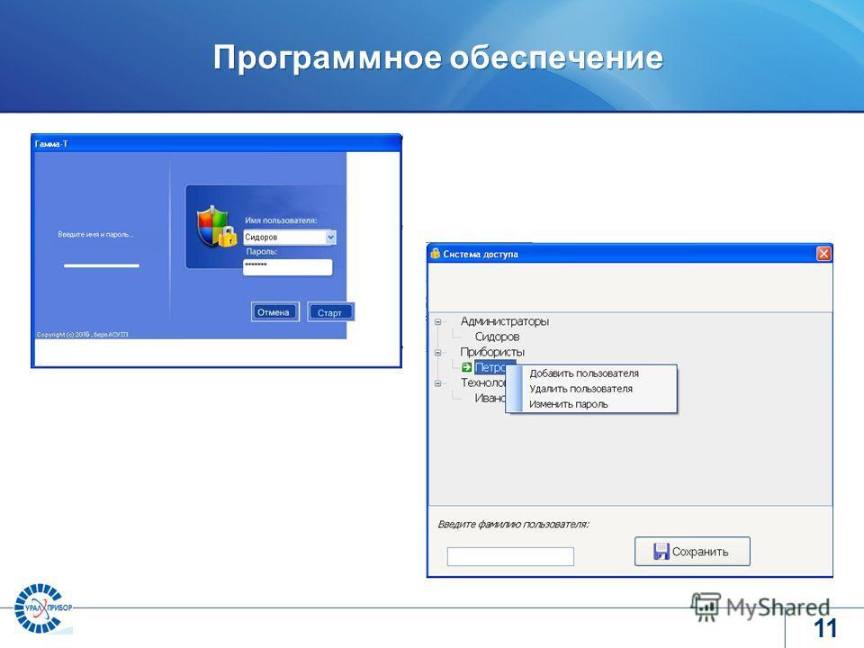 www.tvel.ru Программное обеспечение 11