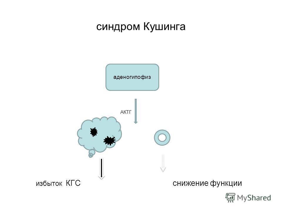 синдром Кушинга АКТГ избыток КГС снижение функции аденогипофиз
