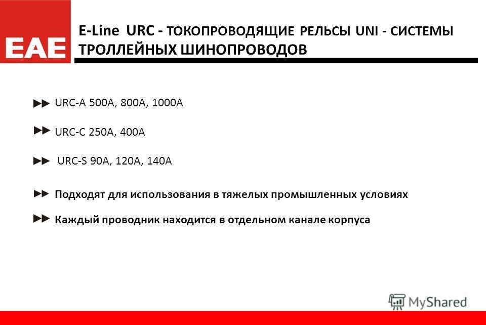 www.eae.com.tr E-Line URC - Передвижные системы шинопроводов