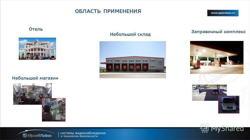 Небольшой склад Отель Небольшой магазин Заправочный комплекс ОБЛАСТЬ ПРИМЕНЕНИЯ