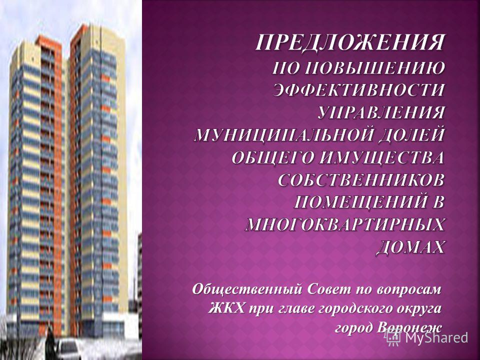 Общественный Совет по вопросам ЖКХ при главе городского округа город Воронеж