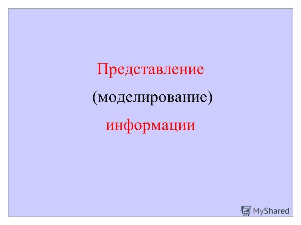 Представление (моделирование) информации