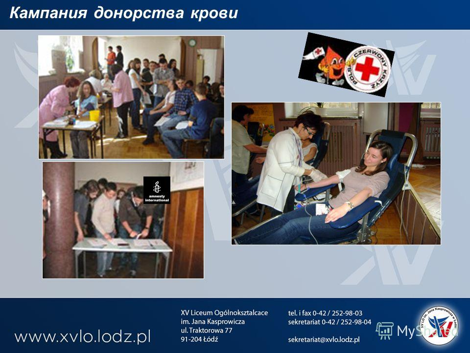 Кампания донорства крови