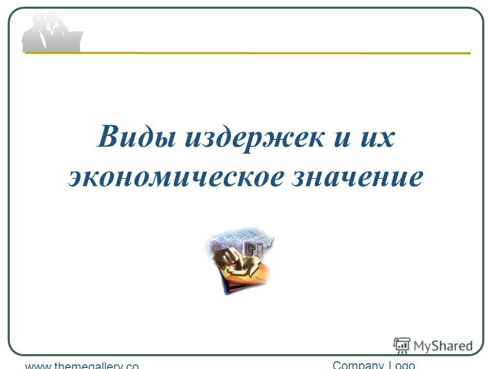 Company Logo www.themegallery.co m Виды издержек и их экономическое значение