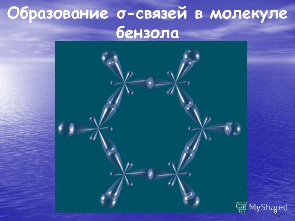 9 Образование σ-связей в молекуле бензола