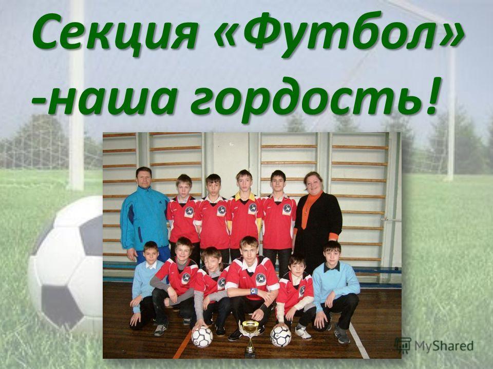 Секция «Футбол» -наша гордость!