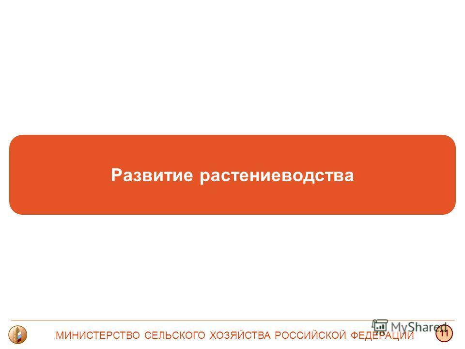 Развитие растениеводства МИНИСТЕРСТВО СЕЛЬСКОГО ХОЗЯЙСТВА РОССИЙСКОЙ ФЕДЕРАЦИИ 11