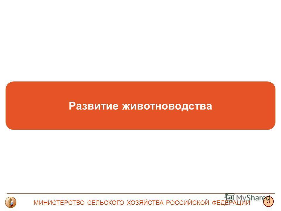 Развитие животноводства МИНИСТЕРСТВО СЕЛЬСКОГО ХОЗЯЙСТВА РОССИЙСКОЙ ФЕДЕРАЦИИ 3