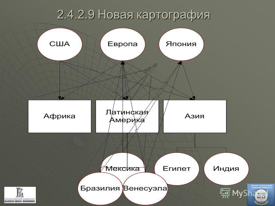 2.4.2.9 Новая картография