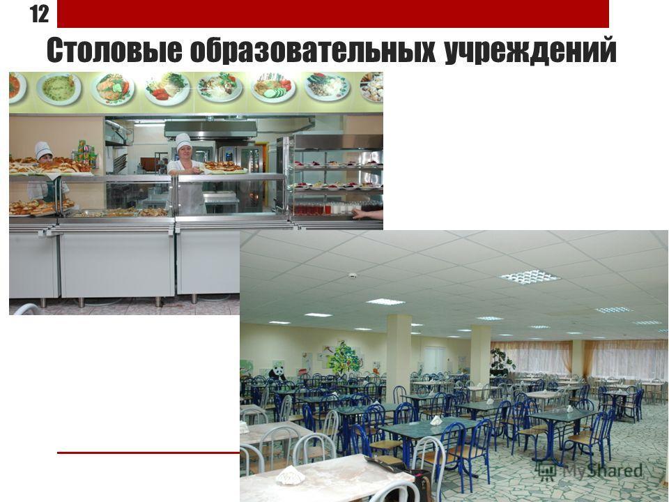 Столовые образовательных учреждений 12