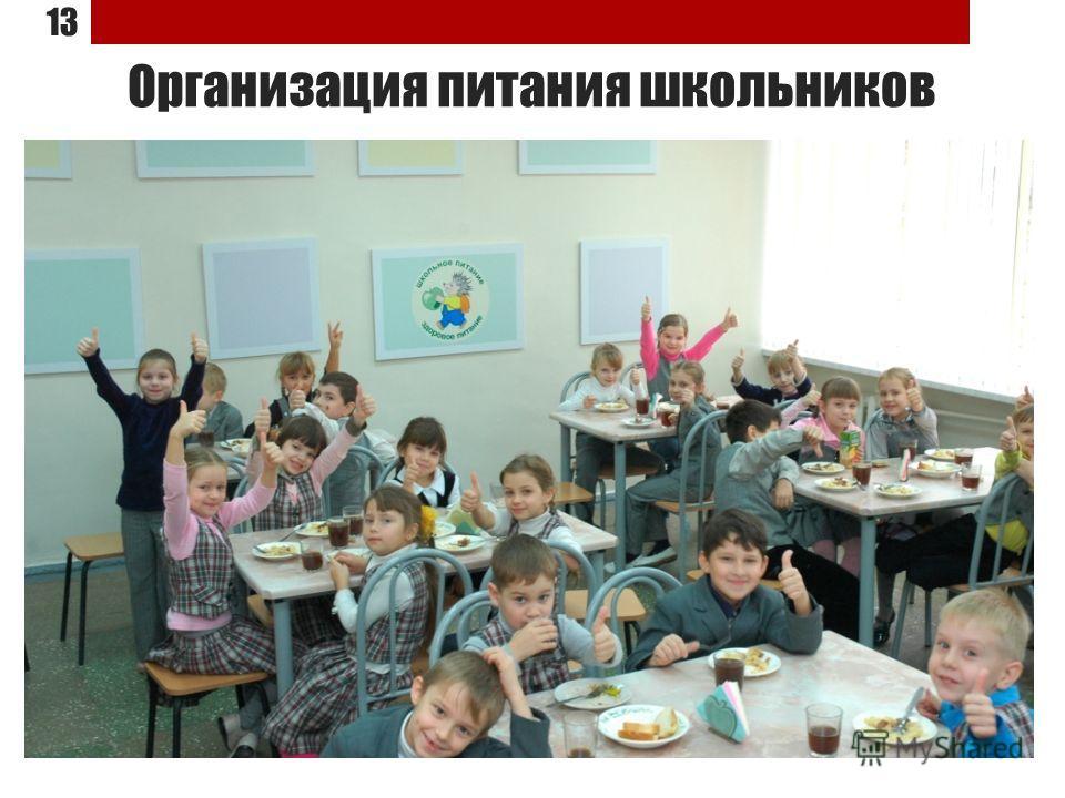 Организация питания школьников 13