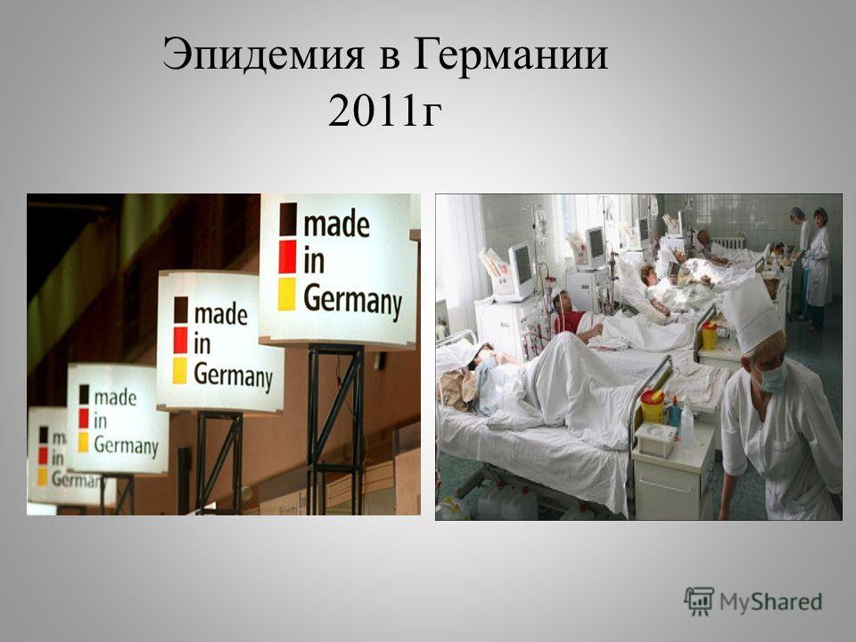 Эпидемия в Германии 2011г