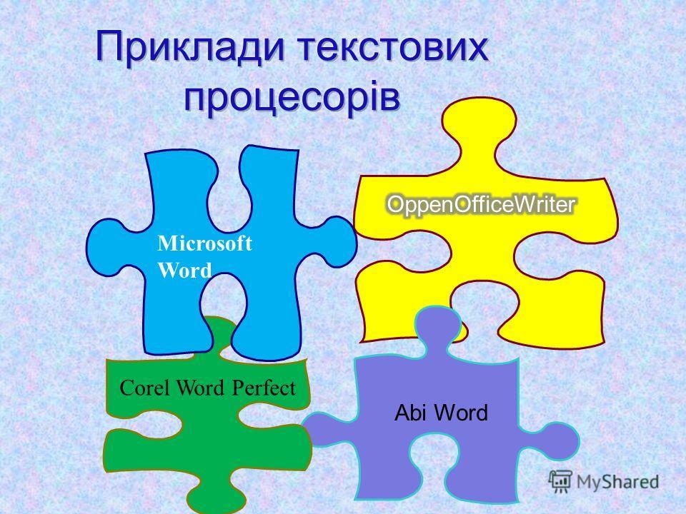 Abi Word Microsoft Word Corel Word Perfect