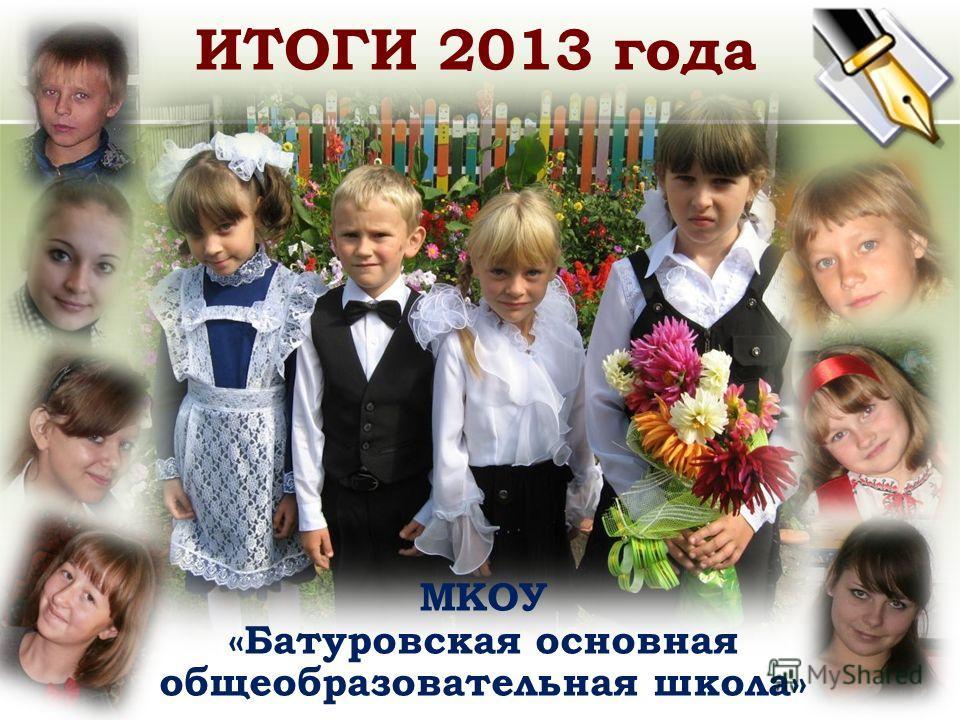 ИТОГИ 2013 года МКОУ «Батуровская основная общеобразовательная школа»