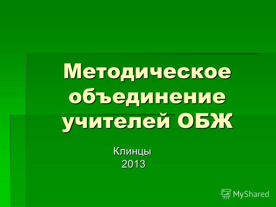 Методическое объединение учителей ОБЖ Клинцы 2013 2013
