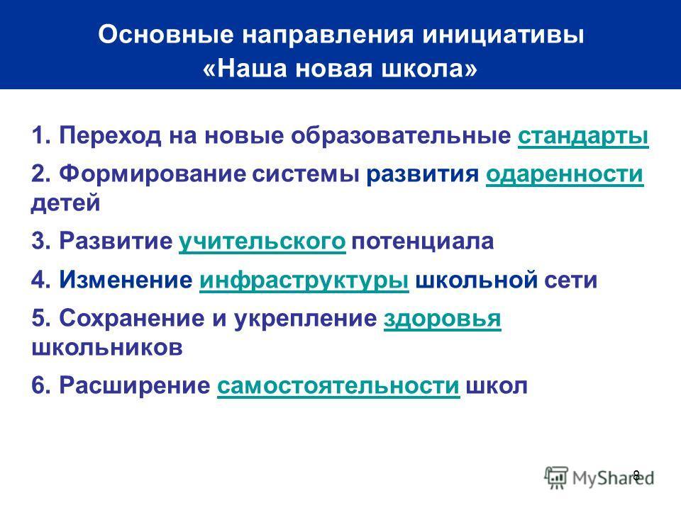 Основные направления инициативы