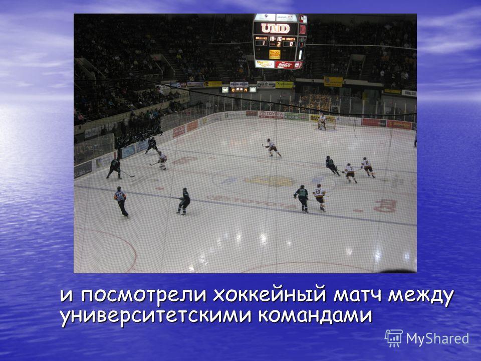 и посмотрели хоккейный матч между университетскими командами