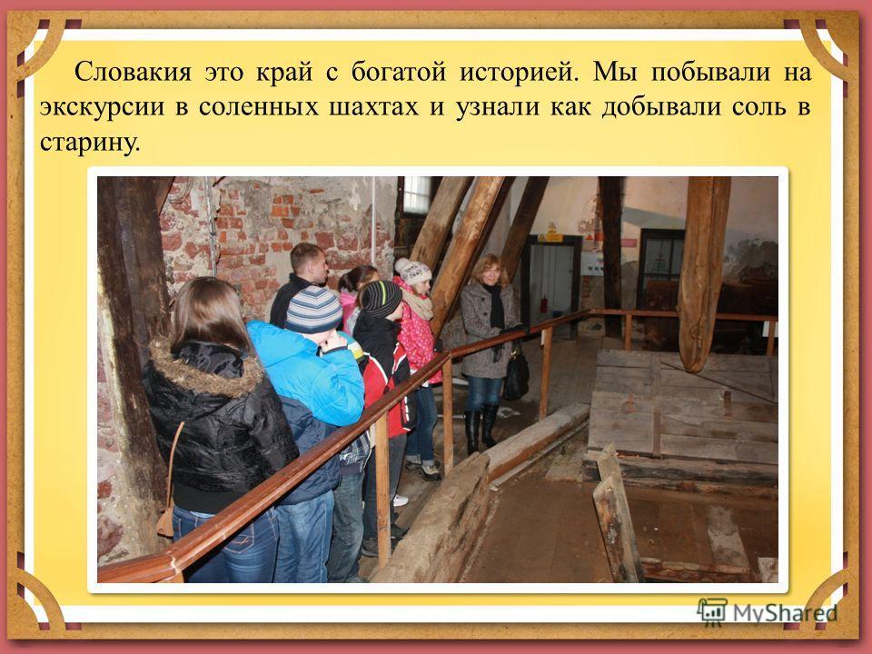 Словакия это край с богатой историей. Мы побывали на экскурсии в соленных шахтах и узнали как добывали соль в старину.