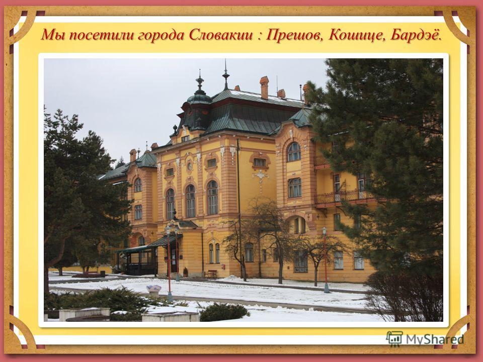 Мы посетили города Словакии : Прешов, Кошице, Бардэё.