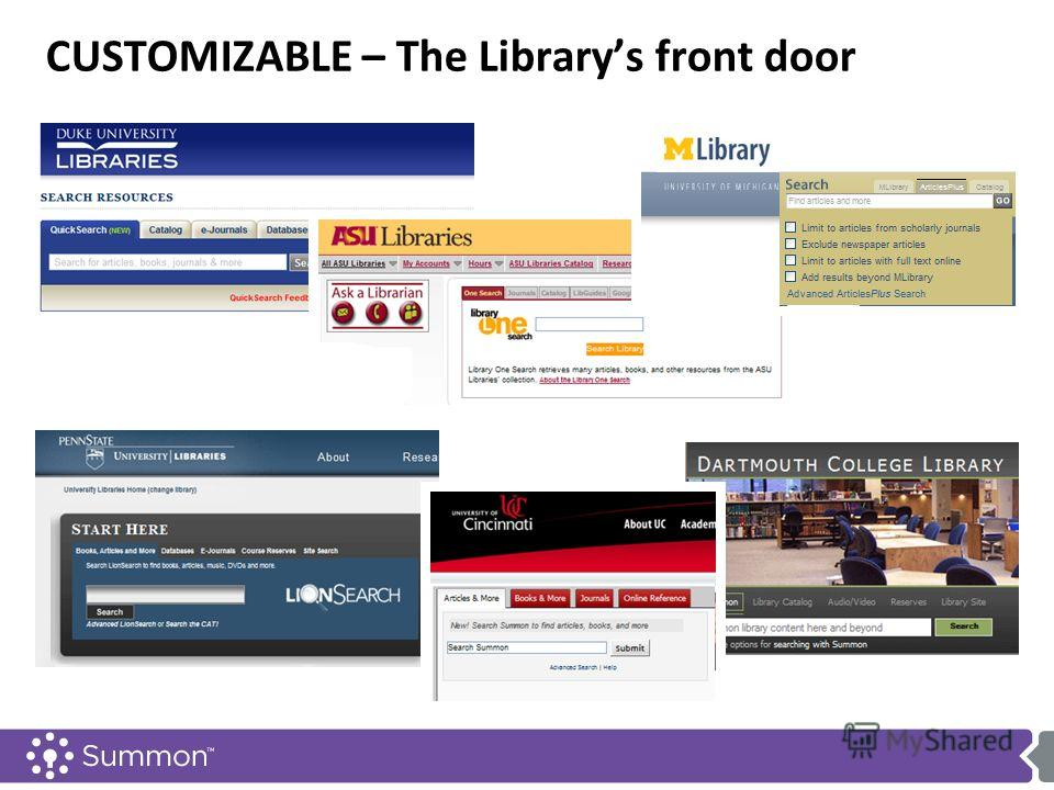 CUSTOMIZABLE – The Librarys front door